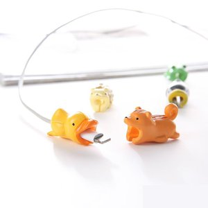 Cable Bite Big Power Adapter Protector USB Wall Charger Protective Kawaii Animal Cover for iPhone Android Cable Accessary