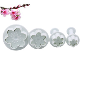 Wholesale cake decorating flower cutters plunger for sale - Group buy 4Pcs Flower Shape Plastic Mold Kitchen Biscuit Cookie Cutter Pastry Plunger D Stamp Die Fondant Cake Decorating Tools