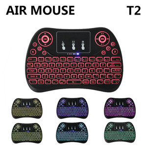 New T2 Universal Smart Remote Control 2.4GHz Wireless Fly Air Mouse Touchpad Blacklight Mini Keyboard for TV Box mini i8 mx3