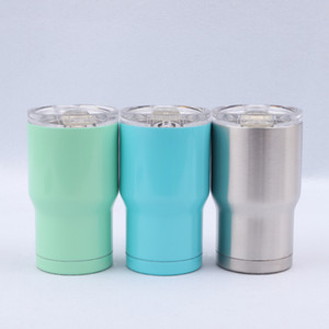Wholesale Stainless Steel Tumbler Oz colors water bottle Double Wall Insulation Vacuum Water Coffee Mugs Car Cups With Lids MMA1952