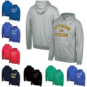 Wholesale New Style Seattle Francisco Angeles Oakland York Men Jets Giants Chargers Seahawks Mitchell Ness Classic Team Pullover Hoodie