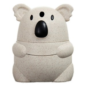 Wholesale New Automatic Toothpick Holder Pocket Container Wheat Straw Cartoon Koala Toothpick Storage Box Back Push Open Toothpick Dispenser