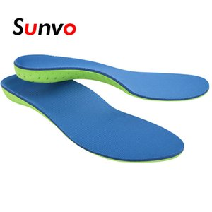 Wholesale Sunvo Memory Foam Sport Casual Insole Breathable Comfortable Arch Support Flat Foot Orthopedic Inserts for Women Men Can be cut