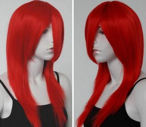 Wholesale Cosplay Long Fire Red Straight Anime Wig