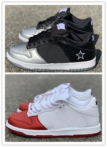 Wholesale SB Dunk Low Pro Dunks Low Mens Designer Shoes Black Silver Red Dark Blue Gold Sneakers Women trainer Sports Skate shoes sup
