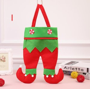 Wholesale New Christmas Ornaments Christmas Red Wine Bottle Bag Gift Candy Bag Elf Gift Bag Christmas Gift opp box ems FREE