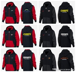 New Type Guard Clothes of 2019 black and red Los Angeles Kansas City Cincinnati Cowboys Chargers Bengals hoodie Sweater