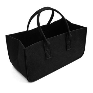 Wholesale Felt bag black Fireplace wooden bag Felt basket Fire wood pocket Firewood basket Newspaper stalls Newspaper