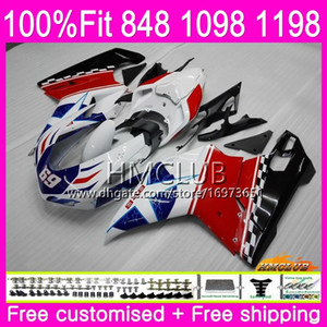 Wholesale 848 fairings for sale - Group buy Injection For DUCATI R R HM White Black S S S Fairing