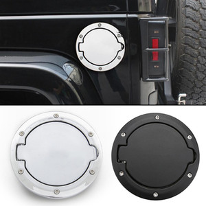 Wholesale jeep jk resale online - Car Fuel Filler Door Cap Gas Tank Cover for Jeep Wrangler JK Rubicon Sahara Unlimited Replacement Part With LOGO