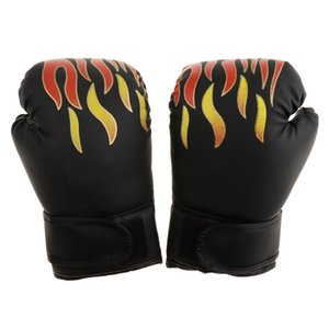 Kids Gel Boxing Kickboxing Training Gloves Gym Muay Thai Pouching Training Glove Mitts for Age 4-12 Year Boys Girls