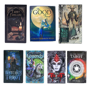 39 Styles Tarots Witch Legends Smith Shadowscapes Wild Prisma Tarot Desktop Board Game Cards with Colorful Box English Version C2119