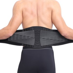 Wholesale 2018 New Neoprene Double Pull Lumbar Adjustable Support Lower Back Belt Brace Pain Relief Sports Protection Waist