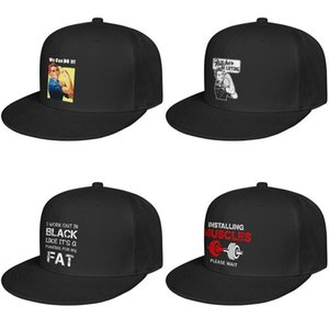 Funny Graphic Tees for Men For men and women Flat edge Baseball Cap Cool Fitted Cute Hats We Can DOIt Lifting Women Kettlebell Bitches I