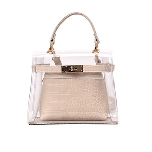 Wholesale Clear Transparent Pvc Shoulder Bags Women Candy Color Women Jelly Bags Purse Solid Color Handbags Main Femme Crossbody Bag