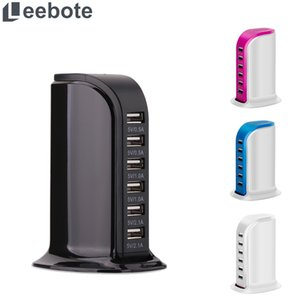 Wholesale Leebote Port USB Charging Station Multiple Power Socket Smart Phone USB Charger for iPhone Samsung Xiaomi Desktop Charger