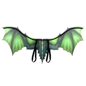 Wholesale Halloween Adult Boy and Girl New Year Decoration Carnival Party Animal Costume Dragon Cosplay Masquerade Face Mask and Wings