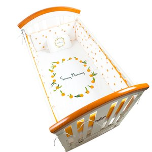 Wholesale newborn flat head resale online - Nordic Baby Bedding Set Bumper Cotton Cartoon Crib Bed Mattress Cover Baby Pillow Flat Head Newborn Crib Bumper Kids Sets
