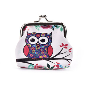 1pcs Women Purse Lovely Owl Pattern Printing Hasp Small Wallet Women Cute Coin Purse Wallet Carteira Feminina Hot Selling