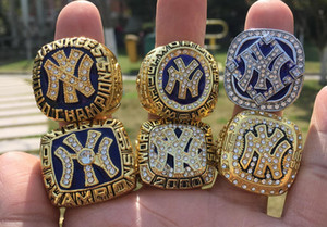 Wholesale 6PCS New York Yankee s World Baseball Championship Ring Fan Gift Drop Shipping