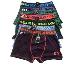 Men Brand UA Cotton Underwear Fashion Under Boxers Breathable Underpants Letter Print Shorts Mens Cuecas Tight Waistband Underpant 10pcs
