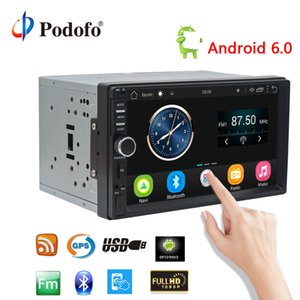 Wholesale car dvd Podofo Android Car Radio Stereo GPS Navigation Bluetooth USB SD Din Touch Car Multimedia Player Audio Player Autoradio