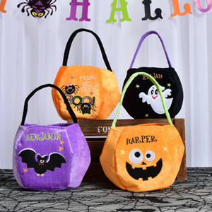 Wholesale Halloween Handbag Candy Bag Organizer Bag Black Cat Pumpkin Printed Candy Bag Kid Halloween Sack Bags Party Supplies ZZA1248