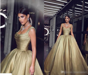 Wholesale Said Formal 2019 Evening Dresses Pageant Celebrity Gowns Ball Gown Spaghetti Straps Pleats Ruffles Long Party Vestidos Arabic