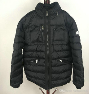 Winter Jacket Men Stand Collar Puffy Duck Duvet Outdoor Ski Down Coat Fashion Male down garment Black Plus Size 3XL