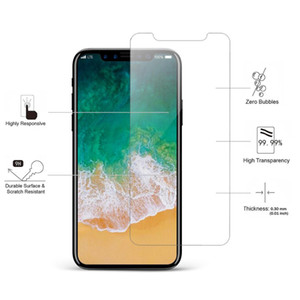 Wholesale Hot For iPhone XS Max XR Tempered Glass Screen Protector For iPhone Pixel XL Film mm D H Paper Package