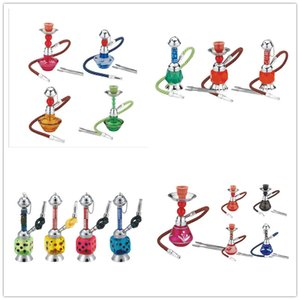 Wholesale smoking plastic bongs resale online - Newest Mini Hookah Set Acrylic Bongs Shisha Narguile Plastic Smoking Water Pipes With hose Glass Bongs Oil Rig Styles Choose