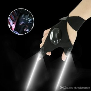 Wholesale 1pcs Lighting glove Night car repair glove led light Night fishing lamp glove hanging bait lamp night fishing supplies