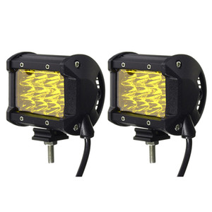 Wholesale 2x Inch Yellow Led Car Work Light Bar Spot Beam Driving Boat Offroad Atv Lamp