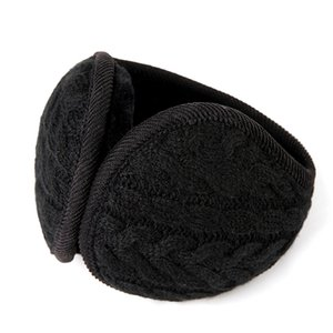 Wholesale Cover Earmuffs Muff Foldable Earflap Unisex Plush Ear Warmer Knitted Warm Fashion Men Women Winter