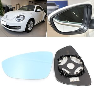 Wholesale volkswagen vision resale online - For Volkswagen Beetle Large Vision Blue Mirror Anti Car Rearview Mirror Heating Refit Wide Angle Reflective Reversing Lens