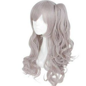 Wholesale Girls Frontline Cosplay Hair Wig Grey pink Pigtail Girl Game