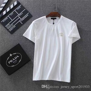 Wholesale 19ss PRA Men Paris Lovers Cotton Tshirts Printing Short Sleeve Colors Summer Tee Breathable Classical Shirt Streetwear Outdoor Tshirt