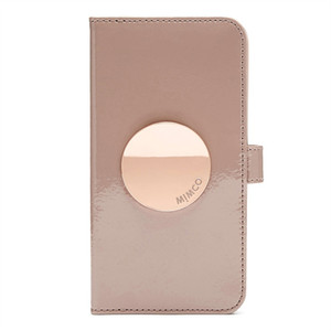 BALSA COLOR MIMCO FLIP CASE FOR IPHONE AND SAMSUNG Leather Magnetic Closure phone case with card slots