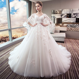 Wedding dress new bridal dress large size showing thin tail princess dream pregnant woman big size fat mm pregnant belly