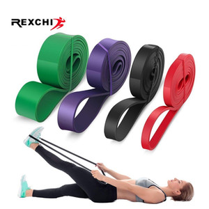 Wholesale REXCHI Yoga Stretch Resistance Bands Pull Up Assist Bands Natural Latex Fitness Bodybulding Exercise Training Workout Equipment