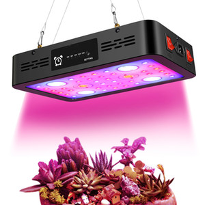 Wholesale growing lights resale online - 1200W Dual Switches Timing Function Led Grow Light Full Spectrum Dual Chip Grow Light Fixtures for Indoor Plants Growth USA Stock