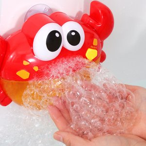 Wholesale Bubble Machine Crab Music Light Electric Bubble Maker Baby Kids Swimming Bathtub Soap Machine with Water Toy