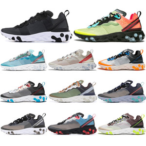 Wholesale 2019 Chaussure best mens trainers React Element Undercover X Upcoming designer grey royal red sports shoes men women Sneakers shoes