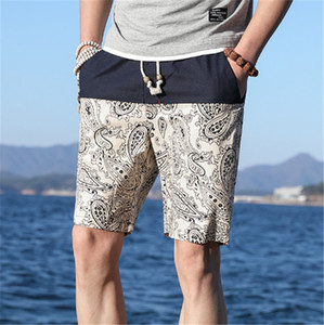 Men's summer beach pants ethnic style shorts young men's large size loose and thin style beach pants