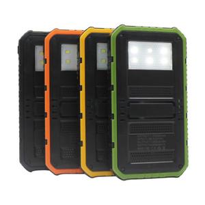 20000mAh Novel solar Power Bank Ultra-thin Highlight LED Solar Power Banks 2A Output Cell Phone Portable Charger Solar Powerbank Free shippi
