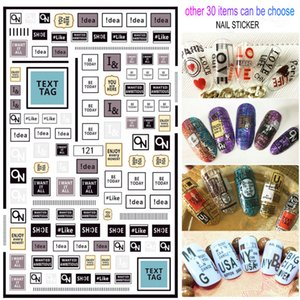12pcs Lot 3D Nail Stickers Waterproof Decals Foil Sticker Manicure Self-adhesive Luxurious Designer 2020 New Style 30 Items for Choose