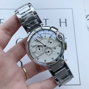 Wholesale sub dress for sale - Group buy High quality Men s Top fashion Watches Stainless Steel band stopwatch All sub dials work quartz watch For men best gift