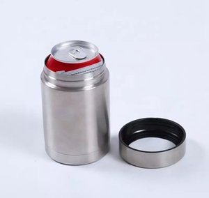 Wholesale 12oz Beer Cooler Stainless Steel Double Layer Vacuum Keep Cold Coke Can Holder Cooler Cup LJJO7224