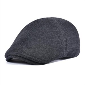 Wholesale VOBOOM Cotton Newsboy Cap Men Solid Color Flat Caps Classic Cabbies Driver Hat Soft Headpiece