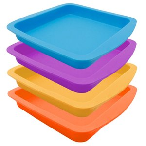 """Nogoo Square Plate Deep Dish Pan 8"""" Non Stick Silicone Container Tray For Dab Or Wax 1 Piece"""